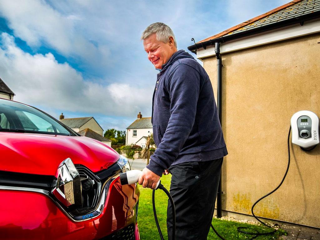 Electric Vehicle charging, Penzance, Cornwall